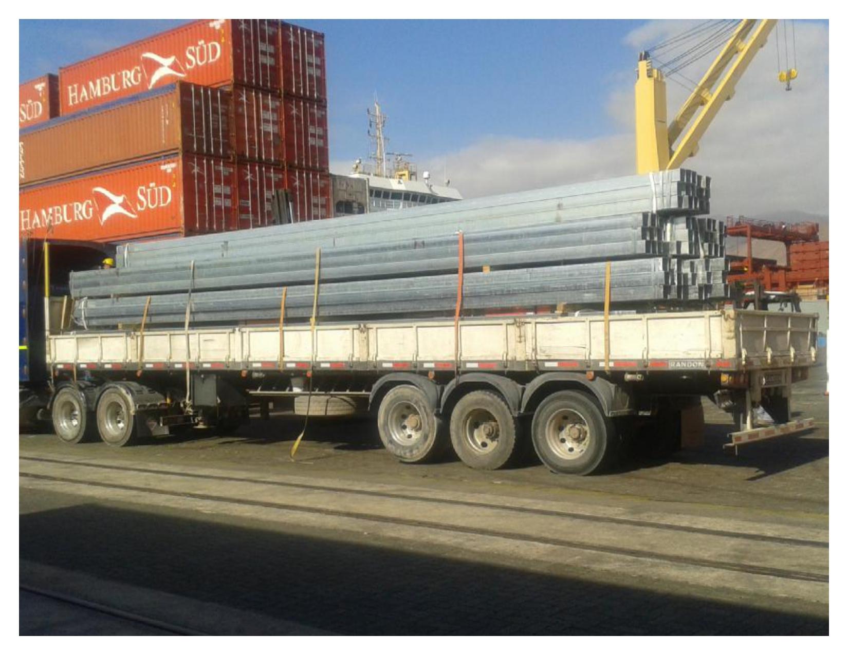 camión de medidas especiales para instalación de campos solares de soltec, transportes realizado por morarte logistics