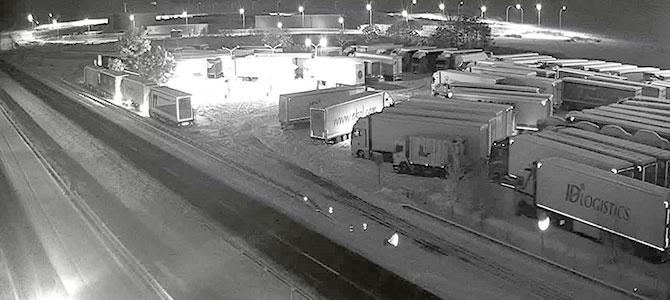 camiones embolsados por Filomena, Morarte Logistics