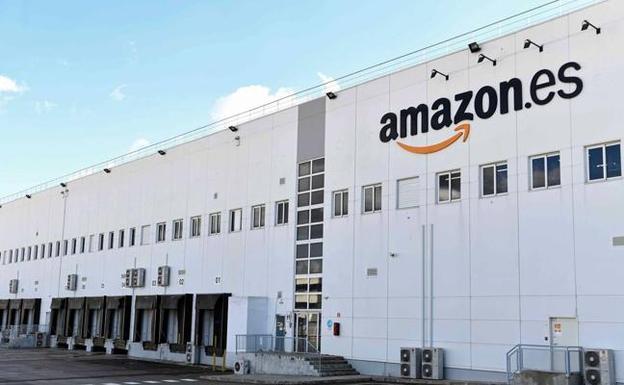 Imagen del centro logístico de Amazon que se ha construido en Corvera. Morarte Logistics SL
