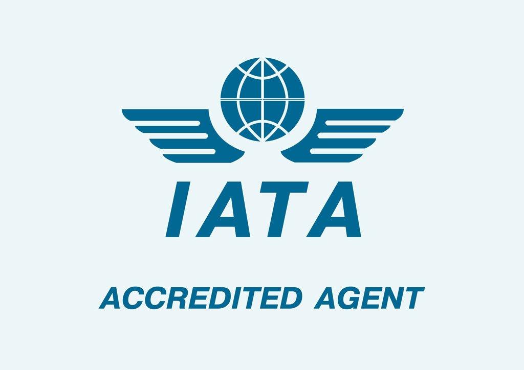 logo del sello IATA del que es agente Morarte Logistics sl