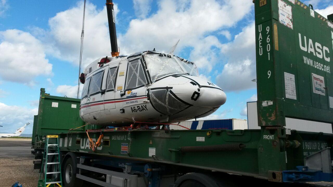 transporte a los emiratos arabes y arabia saudi de helicopteros y camiones por morarte logistics sl 2