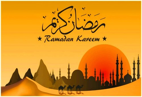 tarjeta de Ramadam Kareem a los clients musulmanes de Morarte Logistics SL